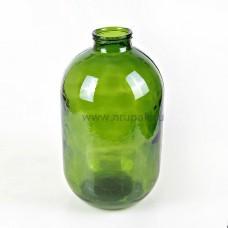 Стеклянная бутыль СКО 10 литров (зеленая)