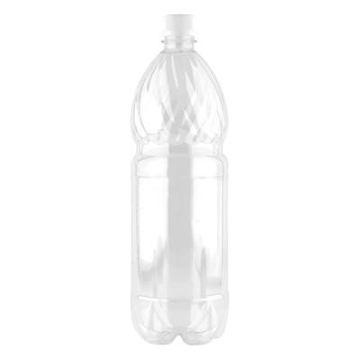 Бутылка ПЭТ 1 л. с крышкой  77 шт/упак прозрачная