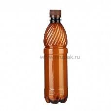 Бутылка ПЭТ 0,5 л. с крышкой  100 шт/упак темная