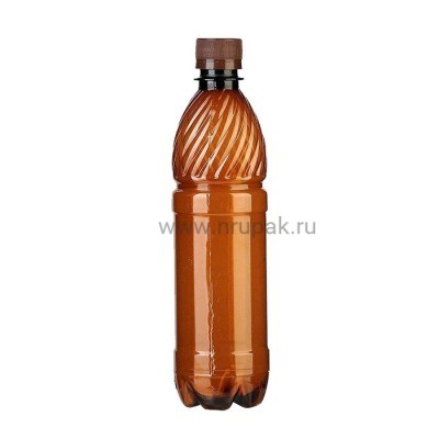 Бутылка ПЭТ 0,5 л. темная с крышкой 100 шт/упак