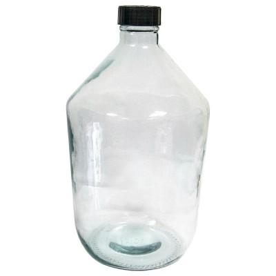 """Стеклянная бутыль """"Казацкий"""" (прозрачный) 10 литров"""