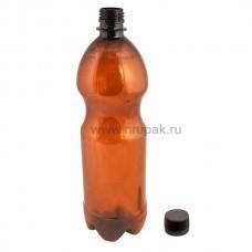 Бутылка ПЭТ 1 л. с крышкой  77 шт/упак