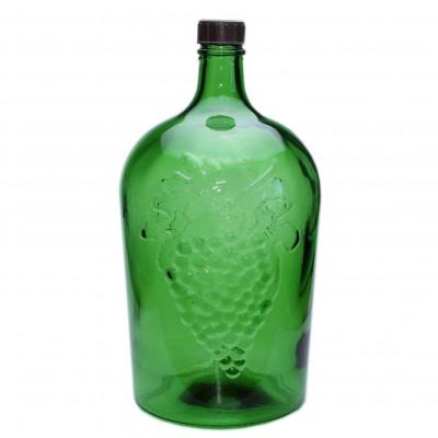 """Стеклянная бутыль """"Ровоам"""" 5 литров, зеленый"""