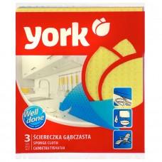 """Салфетки губчатые """"York"""" 3 шт/упак, 150 упак/ кор"""