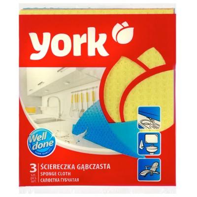 "Салфетки губчатые ""York"" 3 шт/упак"