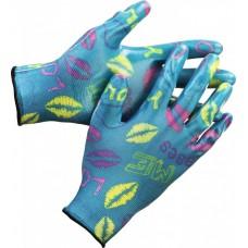 Перчатки нейлоновые садовые с полиуретаном