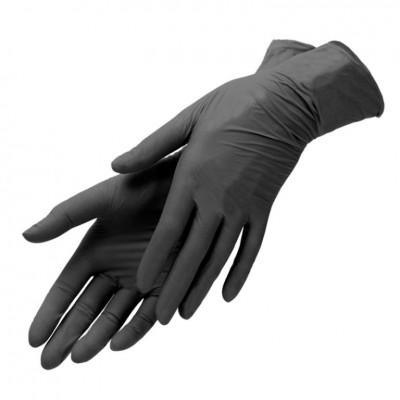 Перчатки медицинские нитриловые черные