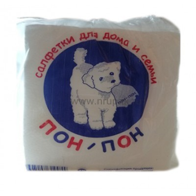 """Салфетки бумажные """"Пон Пон"""" 24х24 см, 48 упак/ кор"""