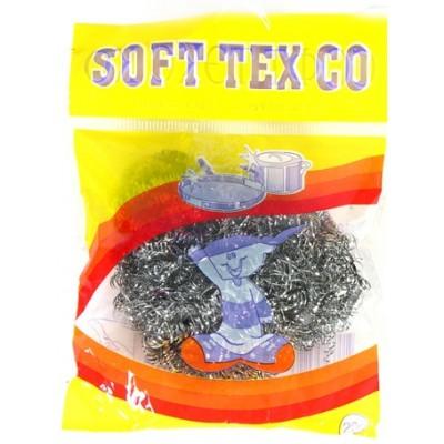 """Губка для посуды металлическая """"Soft Tex"""" 12 шт на блистере"""