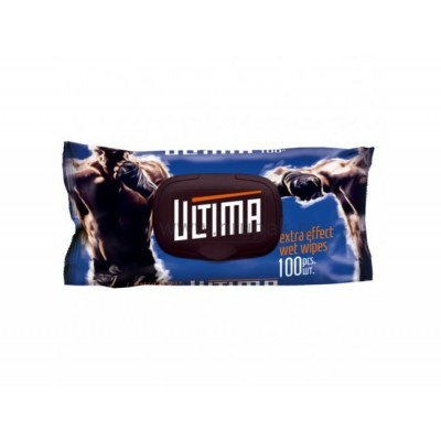 """Салфетки влажные """"Ultima"""" c крышкой, 100 шт/ упак, 16 упак/ кор"""