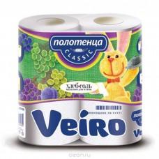 """Полотенца бумажные """"Viero классик"""" 2х- слойные, 2 шт/ упак, 12 упак/ кор"""