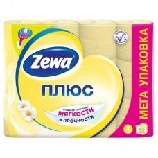 "Туалетная бумага ""Zewa плюс"" 2х-слойная, 12 шт/ упак"