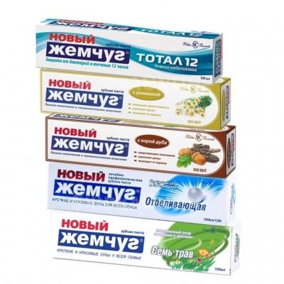 """Зубная паста """"Новый жемчуг"""" 100 мл в ассортименте"""