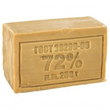 Мыло хозяйственное без запаха 72%, 250 гр (48 шт/ кор)