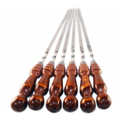 Шампура с деревянной ручкой, 12 мм* 45 см* 3мм