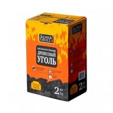 Уголь березовый Super Grill коробка  2 кг