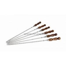 Шампура с деревянной ручкой, 12 мм* 40 см, толщина стали 3 мм