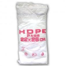 Фасовочные пакеты HDPE bags красн. 22*26,  10 уп/ мешок