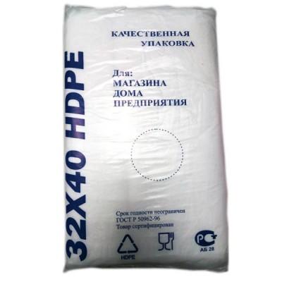 Фасовочные пакеты HDPE bags синий 32*40,  10 уп/ мешок