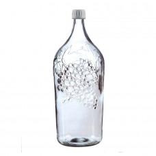 """Стеклянная бутыль (Графин)  """"Виноград"""" 2 литра"""