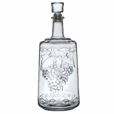 """Стеклянная бутыль (графин) 3 л. """"Ностальгия"""" с пробкой"""