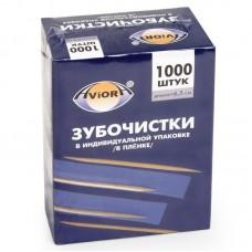 """Зубочистки в индивидуальной бумажной упаковке """"Авиора"""" 1000 шт"""