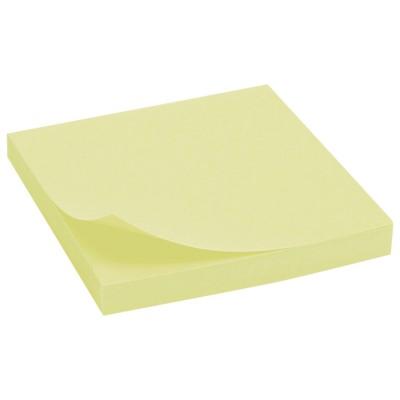 Стикеры NOTES, 100 листов, 76*76 мм, желтые  (12)