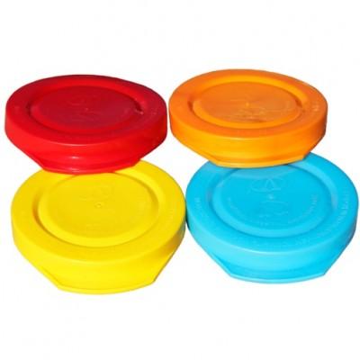 Полиэтиленовые крышки для холодного консервирования Ø 82мм (цветные)