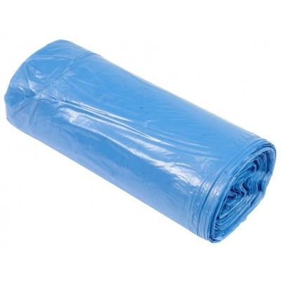 Пакеты для мусора ПДВ  180 л синие., 25 шт/ рул