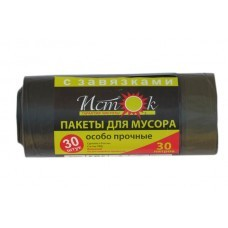 "Мешки для мусора ""Исток""30 л. с завязками, 30 шт/ рул., 20 рул./ кор."