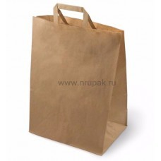 Пакет бумажный крафт с плоскими ручками 320*200*370 мм