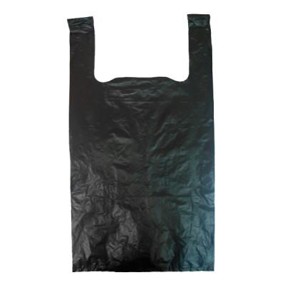 Пакет майка ПНД 25*45 черная,  50 упак/ меш