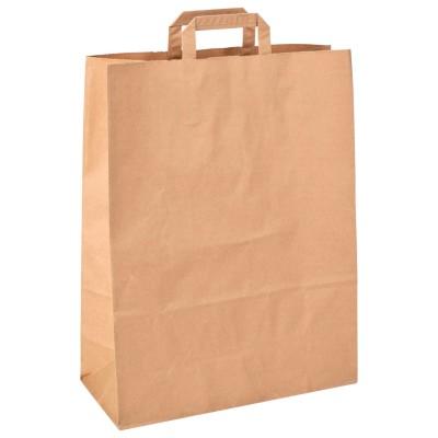 Пакет бумажный крафт с плоскими ручками 350*150*450 мм