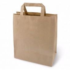 Пакет бумажный крафт с плоскими ручками 240*140*280 мм