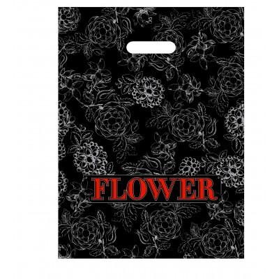 Пакет с вырубной ручкой Flower 38*48 , 1000 шт/ меш
