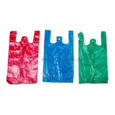 Пакет майка ПНД 25*45 цветная (М),  50 упак/ меш