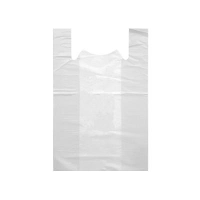 Пакет майка ПНД 25*45 белая,  50 упак/ меш