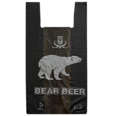 Пакет майка Медведь 30*55, 30 упак/ мешок