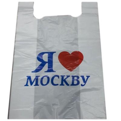 Пакет майка Москва, 30 упак/ мешок