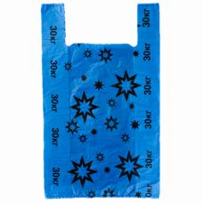 Пакет майка Звезда синий 32*59, 20 упак/ мешок