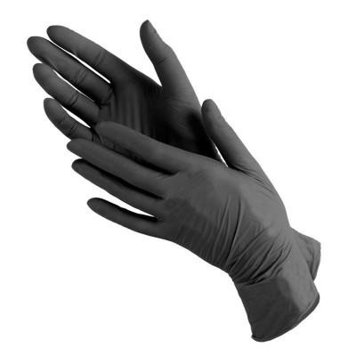 Перчатки медицинские виниловые черные