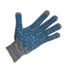 Перчатки х/б 4 нити, ПВХ волна, серые