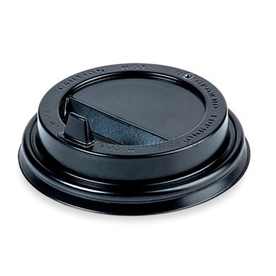 Крышки для бумажных стаканов черные d 80, 1000 шт/ кор.