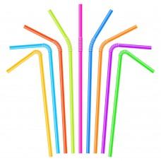Трубочки для коктейлей цветные, 250 шт/ упак, 48 упак/кор
