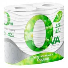"""Туалетная бумага """"OVA""""  3х-слойная, 4 шт/ упак"""