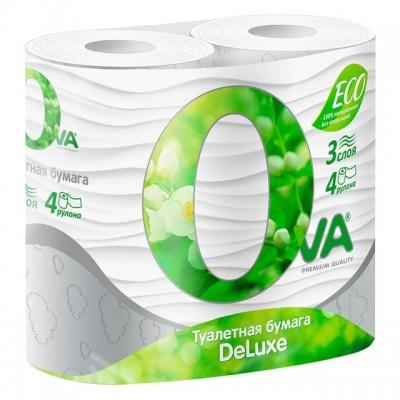 """Туалетная бумага """" OVA""""  3х-слойная, 4 шт/ упак"""