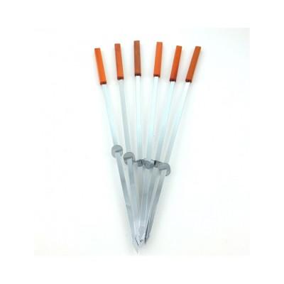 Шампура с деревянной ручкой с кольцами