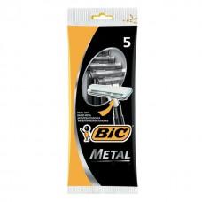 """Станок для бритья """"BIC"""" металл 5 шт/ упак"""